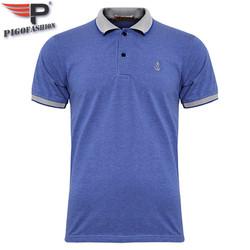 Áo thun nam Polo cổ phối bo dệt đẹp chuẩn Xmen Pigofashion cao cấp AHT08 -9- xanh da