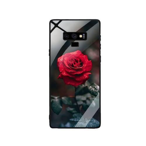 Ốp lưng cho điện thoại samsung galaxy note 9 - mặt kính cường lực -  0322 rose08