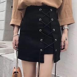 Chân váy ulzzang đan dây đùi cực hot