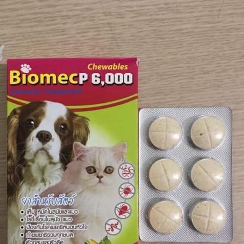 Viên nhai xổ giun biomecp 6000
