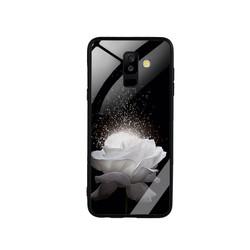 Ốp Lưng cho điện thoại Samsung Galaxy A6 Plus - Mặt Kính Cường Lực -  0324 ROSE03