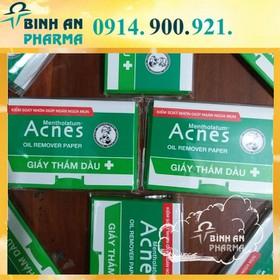 Giấy Thấm Dầu Kiểm Soát Nhờn Acnes Oil Remover Paper 100 Tờ - thamdau