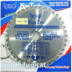 Lưỡi Cắt Gỗ Nhôm Kim Loại Nhựa Thủy Tinh 5in1 KingTom 180-40R