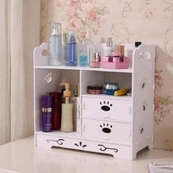 Kệ, tủ, hộp đựng mỹ phẩm bằng gỗ cao cấp