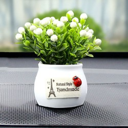 Chậu hoa mini để taplo ô tô, để bàn trang trí
