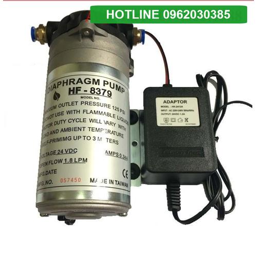 Máy bơm lọc nước kèm nguồn - máy bơm phun sương 24v hf - 8379 kèm adaptor