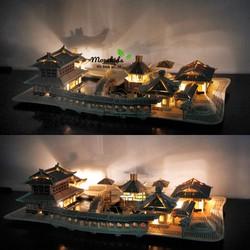 Đồ chơi lắp ráp gỗ 3D Mô hình Nhà Tô Châu - Tặng kèm đèn LED USB trang trí
