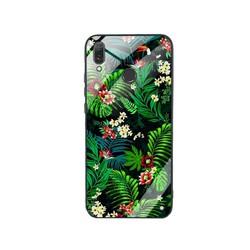 Ốp Lưng cho điện thoại Huawei Y9 2019 - Mặt Kính Cường Lực -  0323 LEAF02