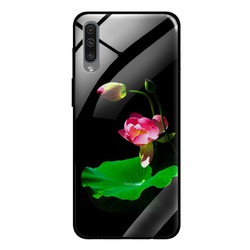 Ốp Lưng cho điện thoại Samsung Galaxy A50 - Mặt Kính Cường Lực -  LOTUS01