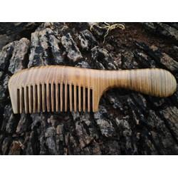 Lược gỗ dài bách xanh BX03- chống tĩnh điện,hạn chế xơ rụng tóc - Quà tặng tuyệt vời cho người thân yêu