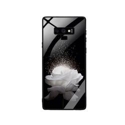 Ốp Lưng cho điện thoại Samsung Galaxy Note 9 - Mặt Kính Cường Lực -  0324 ROSE03