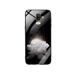 Ốp Lưng cho điện thoại Samsung Galaxy J8 - Mặt Kính Cường Lực -  0324 ROSE03