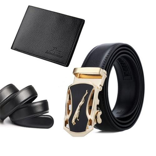 Bộ đôi thắt lưng nam và ví da nam Onimax MB, VD015 Tặng kèm dây thắt lưng