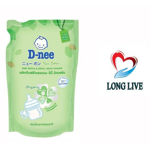 Túi nước rửa bình đựng sữa và rau củ quả Dnee x 400ml