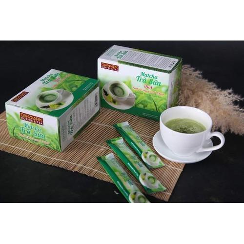 Combo 2 hộp matcha trà sữa dakmark 3in1 - tinh tế trà xanh nhật