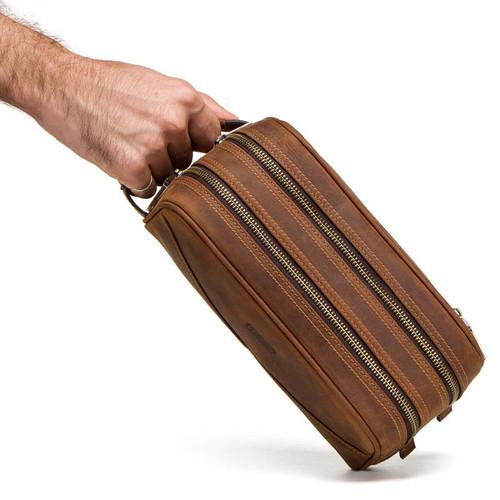 Túi cầm tay da bò nam bigbang 1169