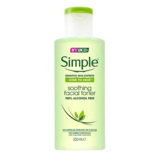 Toner nước hoa hồng làm sạch sâu, nuôi dưỡng và cân bằng độ ph simple kind to skin soothing facial toner không gây kích ứng, không cồn, không mùi hương 200ml - 17320240 , 19838681 , 15_19838681 , 159000 , Toner-nuoc-hoa-hong-lam-sach-sau-nuoi-duong-va-can-bang-do-ph-simple-kind-to-skin-soothing-facial-toner-khong-gay-kich-ung-khong-con-khong-mui-huong-200ml-15_19838681 , sendo.vn , Toner nước hoa hồng làm s