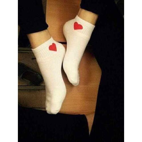 Combo 10 đôi tất nữ trái tim trộn màu