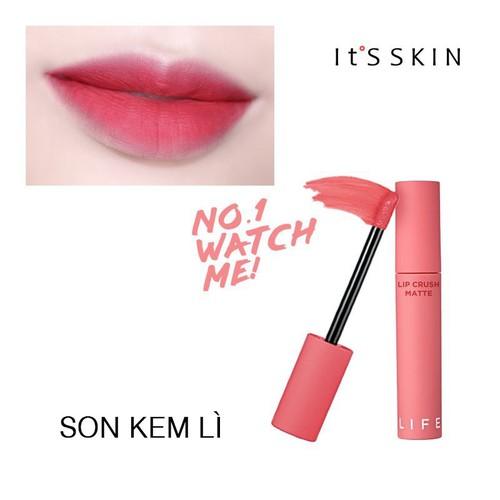 Son kem life color lip crush matte #01 hồng baby
