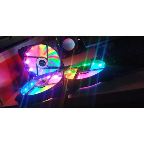 FAN LED Gắn CASE 12cm RGB AUTO 40 Chế Độ Led Không Cần Hub điều khiển - 10641964 , 19832462 , 15_19832462 , 150000 , FAN-LED-Gan-CASE-12cm-RGB-AUTO-40-Che-Do-Led-Khong-Can-Hub-dieu-khien-15_19832462 , sendo.vn , FAN LED Gắn CASE 12cm RGB AUTO 40 Chế Độ Led Không Cần Hub điều khiển