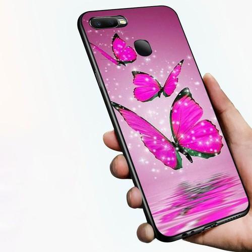 Ốp kính cường lực cho điện thoại Oppo A7 2018 - bướm đẹp MS BUOMD006