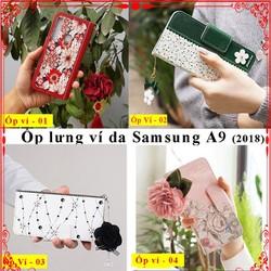 Bao da Samsung A9 2018, ốp lưng bao da samsung a9, bao da a9, ốp ví a9, bao da gập, ốp lưng a9, ốp lưng ví điện thoại samsung a9, ốp Samsung a9, bao da samsung, Aha Case