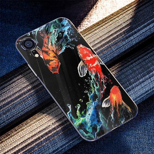Ốp điện thoại kính cường lực cho máy iPhone XS MAX - cửu ngư quần hội MS CNQH001