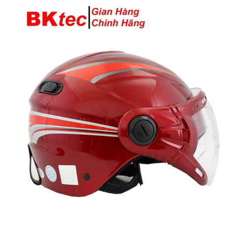 Mũ bảo hiểm nửa đầu có kính chính hãng BKtec nón bảo hiểm cao cấp - 10642408 , 19875698 , 15_19875698 , 219000 , Mu-bao-hiem-nua-dau-co-kinh-chinh-hang-BKtec-non-bao-hiem-cao-cap-15_19875698 , sendo.vn , Mũ bảo hiểm nửa đầu có kính chính hãng BKtec nón bảo hiểm cao cấp