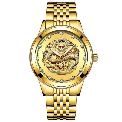 Đồng hồ chống nước, rồng vàng 3d cao cấp