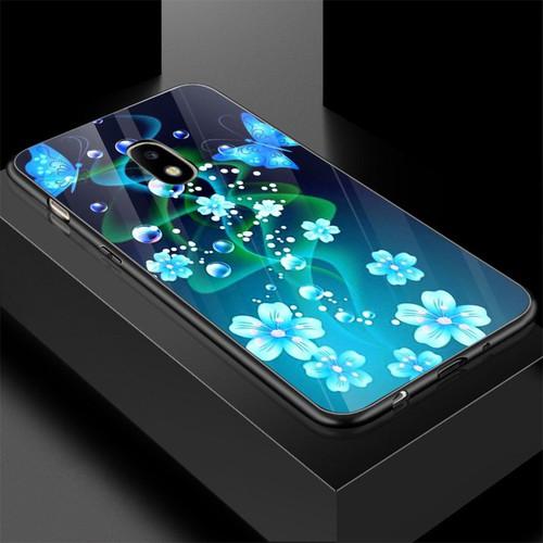 Ốp điện thoại kính cường lực cho máy samsung galaxy j7 plus - bướm đẹp ms buomd056