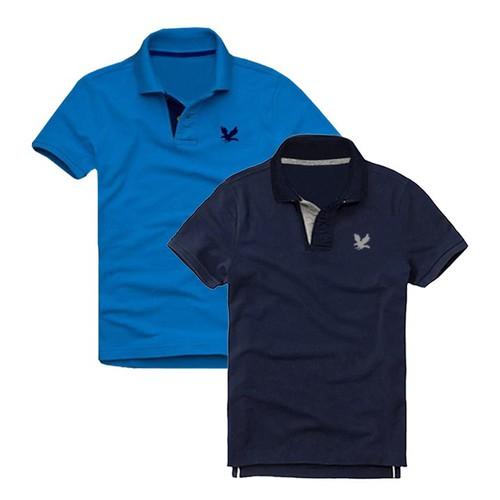 Áo thun nam cá sấu mẫu mới-combo 2 áo, xanh dương, xanh đen