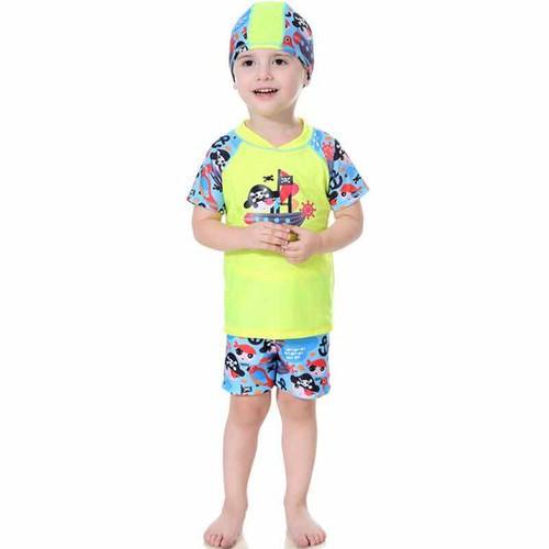 Đồ bơi bé trai tay ngắn quần ngắn thun chống nắng