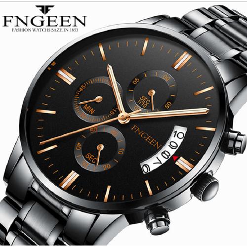 Đồng hồ nam cao cấp chính hãng fngeen, hiển thị lịch ngày, tặng hộp và pin, tặng dụng cụ cắt dây, bảo hành 1 năm