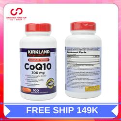 Viên uống kirkland signature coq10 300mg hỗ trợ tim mạch| vien uong coq10 xuất xứ Mỹ 100 viên