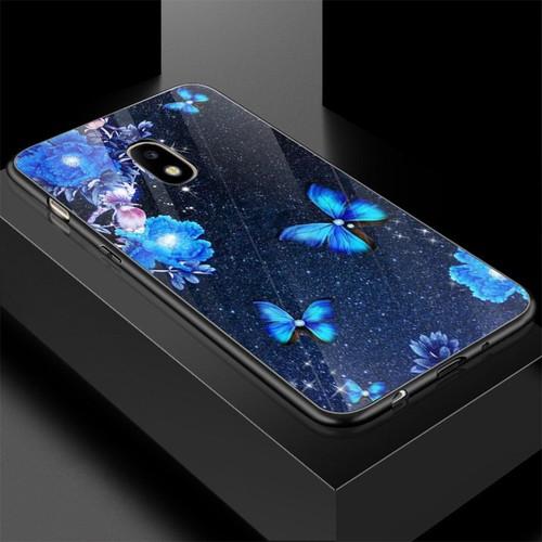 Ốp điện thoại kính cường lực cho máy samsung galaxy j7 plus - bướm đẹp ms buomd064