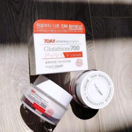 Kem dưỡng trắng da 7 days glutathione 700 v-cream