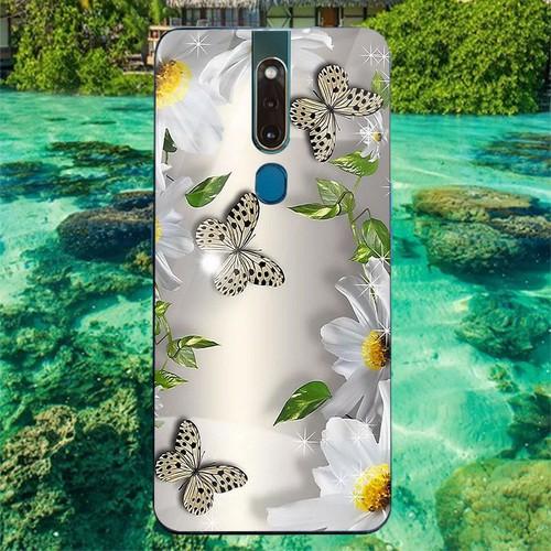Ốp điện thoại kính cường lực cho máy oppo f11pro - bướm đẹp ms buomd051