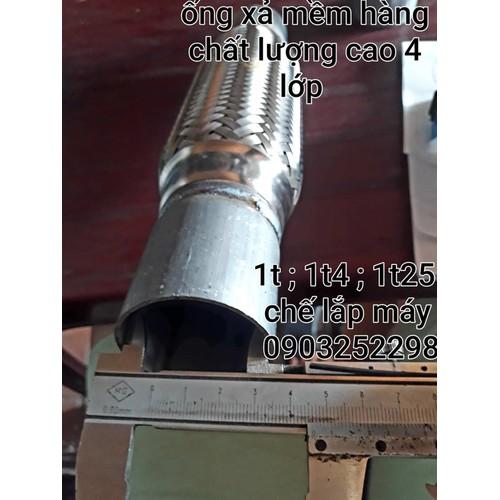 Ống xả mềm chất lượng cao xe hđ 1tấn- 1t25 -kia 1 tấn -1t25 -1t4 - 4 lớp