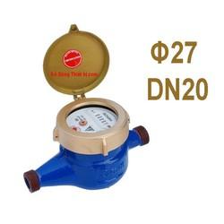 Đồng hồ nước Trung Đức phi 27mm không kiểm định DN20