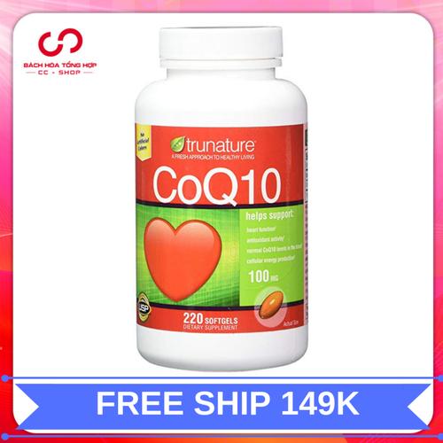 Viên uống trunature coq10 hỗ trợ tim mạch|vien uong trunature coq10 xuất xứ mỹ 220 viên