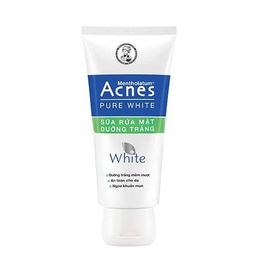 Sữa rửa mặt dưỡng trắng an toàn cho da ngừa khuẩn mụn acnes pure white 50g - 12162320 , 19879947 , 15_19879947 , 31000 , Sua-rua-mat-duong-trang-an-toan-cho-da-ngua-khuan-mun-acnes-pure-white-50g-15_19879947 , sendo.vn , Sữa rửa mặt dưỡng trắng an toàn cho da ngừa khuẩn mụn acnes pure white 50g