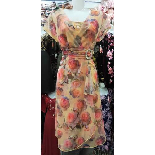 Đầm xoè hoa cao cấp h1379v