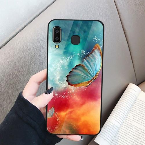 Ốp kính cường lực cho điện thoại samsung galaxy a7 2018 - a750 - bướm đẹp ms buomd057