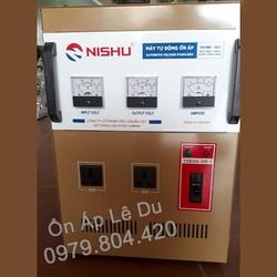 Ổn Áp Nishu 10KVA DR-I dải 50-250V, bảo hành 4 năm, dây đồng