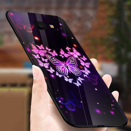 Ốp điện thoại kính cường lực cho máy samsung galaxy a50 - bướm đẹp ms buomd005