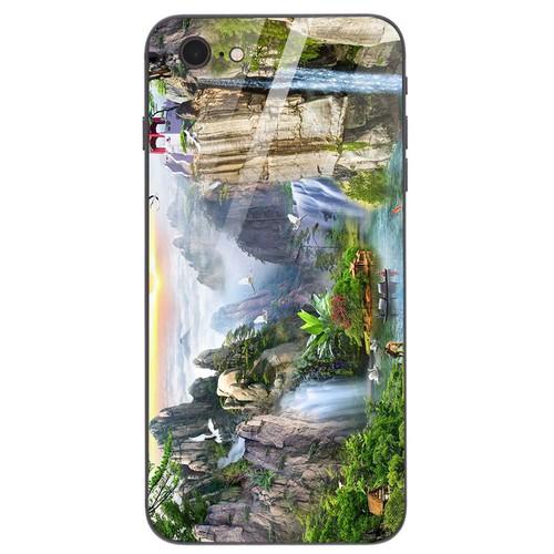 Ốp điện thoại kính cường lực cho máy iphone 7  -  8 - sơn thủy ms sonthuy016