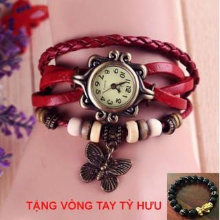 Lắc dây Đồng hồ Nữ thời trang cá tính - Tặng Vòng tay Tỳ Hưu - DHLT100 thumbnail