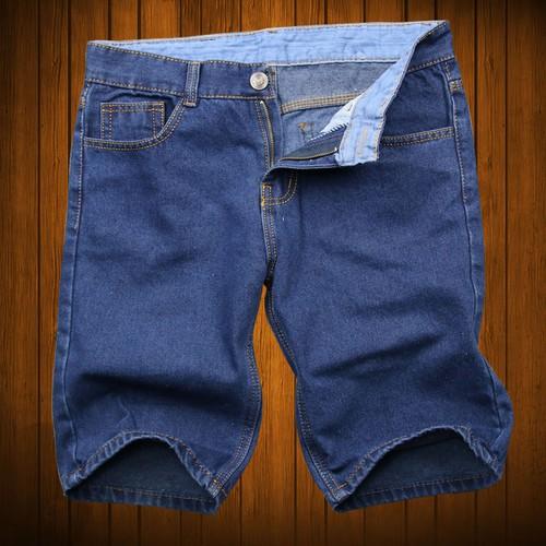 Quần short jean nam xanh đậm vải tốt TS392 Tronshop