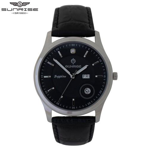 Đồng hồ nam sunrise chính hãng dm784swa 03 , full box , kính sapphire chống xước , chống nước
