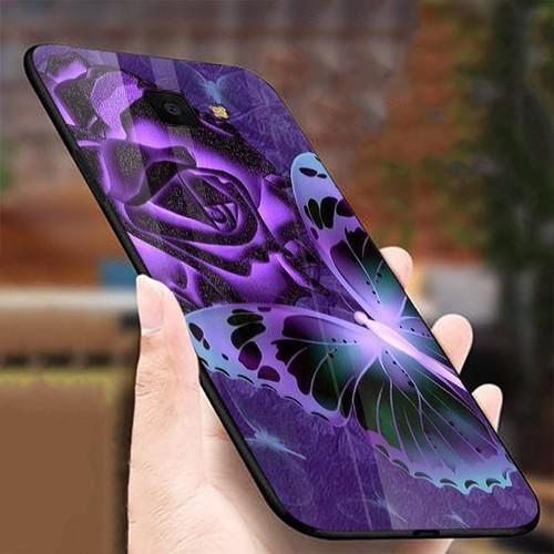 Ốp điện thoại kính cường lực cho máy samsung galaxy a70 - bướm đẹp ms buomd007